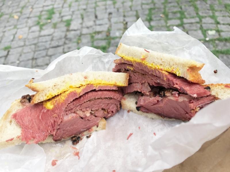 Schwartz Smoked Beef Sandwich