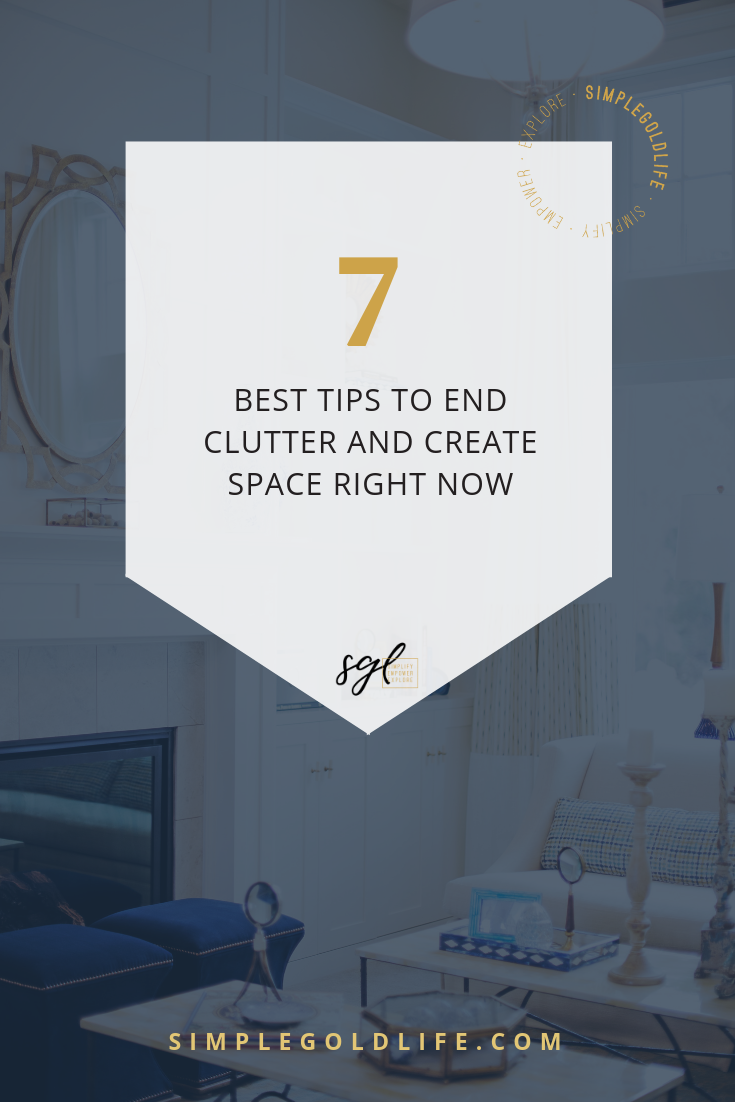 There are people who like to plan and there are people who like to just do! So if you're ready to start your decluttering journey, here are the Seven Best Decluttering Tips to get you on your way! Read more about SimpleGoldLife.com
