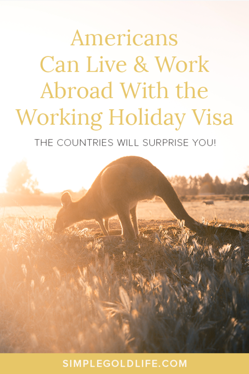 Are you an American who dreams of working Abroad? Well you can live and work in these countries for up to three years! But hurry time is running out #workingholidayvisa #livingabroad #wanderlust