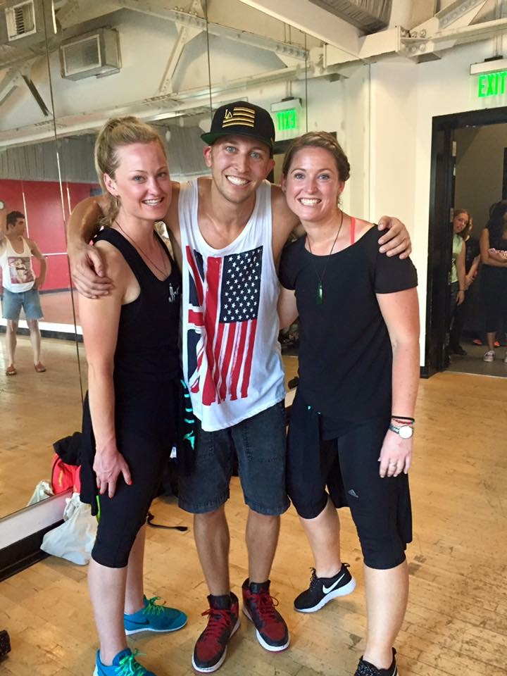 Pictured with world renowned choreographer Matt Steffanina at The International Dance Academy, Hollywood, Los Angeles, 2015.