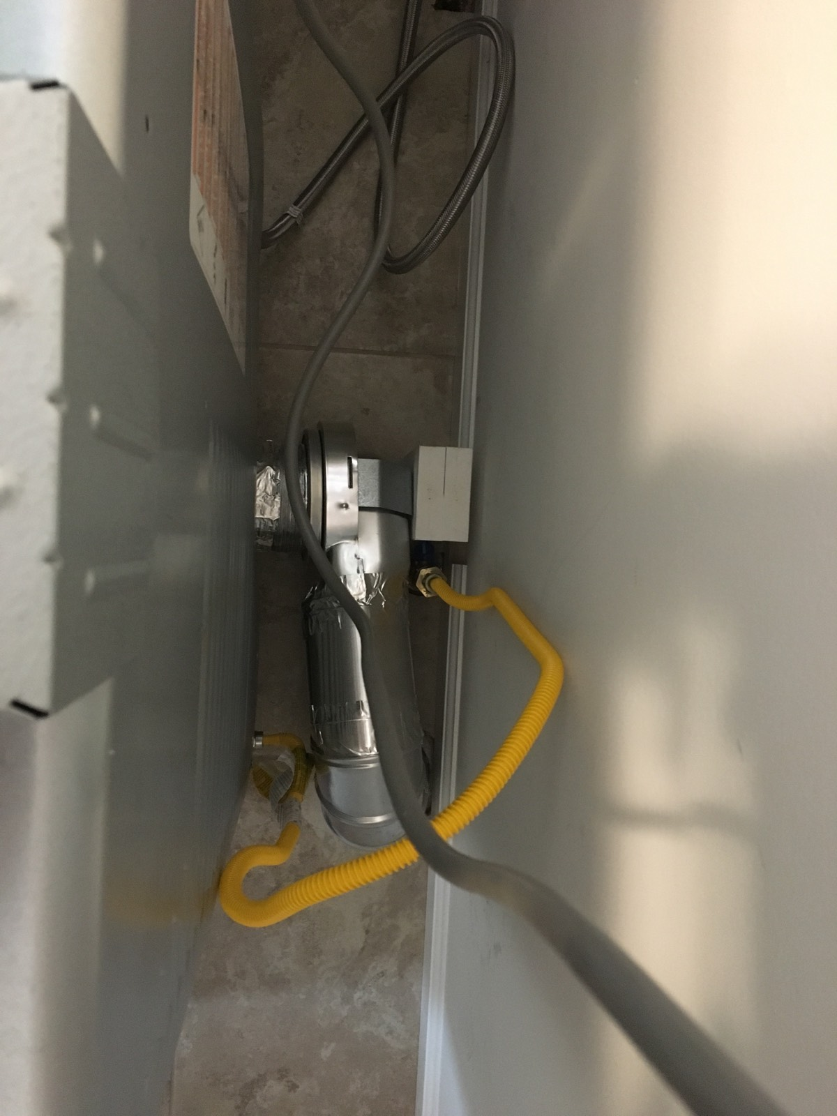 After photo of MagVent MV-90 installation with short, clear and unobstructed vent path.