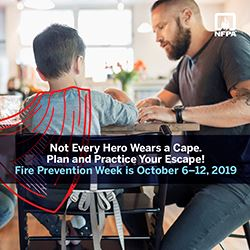 What You Can Do at Home   Teaching fire prevention should not be limited to fairs or  schools  -- it is also something that should take a high priority at home. Some ways to teach fire safety at home include:  ·  Fire safety puzzles  and games  · Creating and executing a fire escape route  · Having periodic, unexpected fire drills  · Locating all of your home's  fire extinguishers   · Purchasing a fireproof safe  · Putting together an emergency supply kit including food, clothing, water and safety supplies  · Knowing how to use all of your appliances, including the heater, air conditioner and hot water tank  · Knowing how to store unused matches and lighters   A Final Thought   Don't wait until disaster strikes to find out about fire safety. There are many Web sites dedicated to fire prevention that can help you figure out a good plan of action for your family:  ·  Scholastic   ·  Federal Emergency Management Agency   ·  National Fire Protection Association   ·  Sparky the Fire Dog   ·  Red Cross   ·  DLTK   ·  U.S. Fire Administration