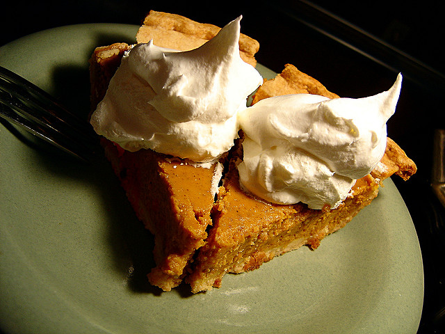 That's about half of the amount of whipped cream that Sheryl likes on her pumpkin pie!
