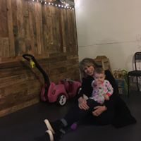 Chrissie Hynde holding baby Aspen!!!