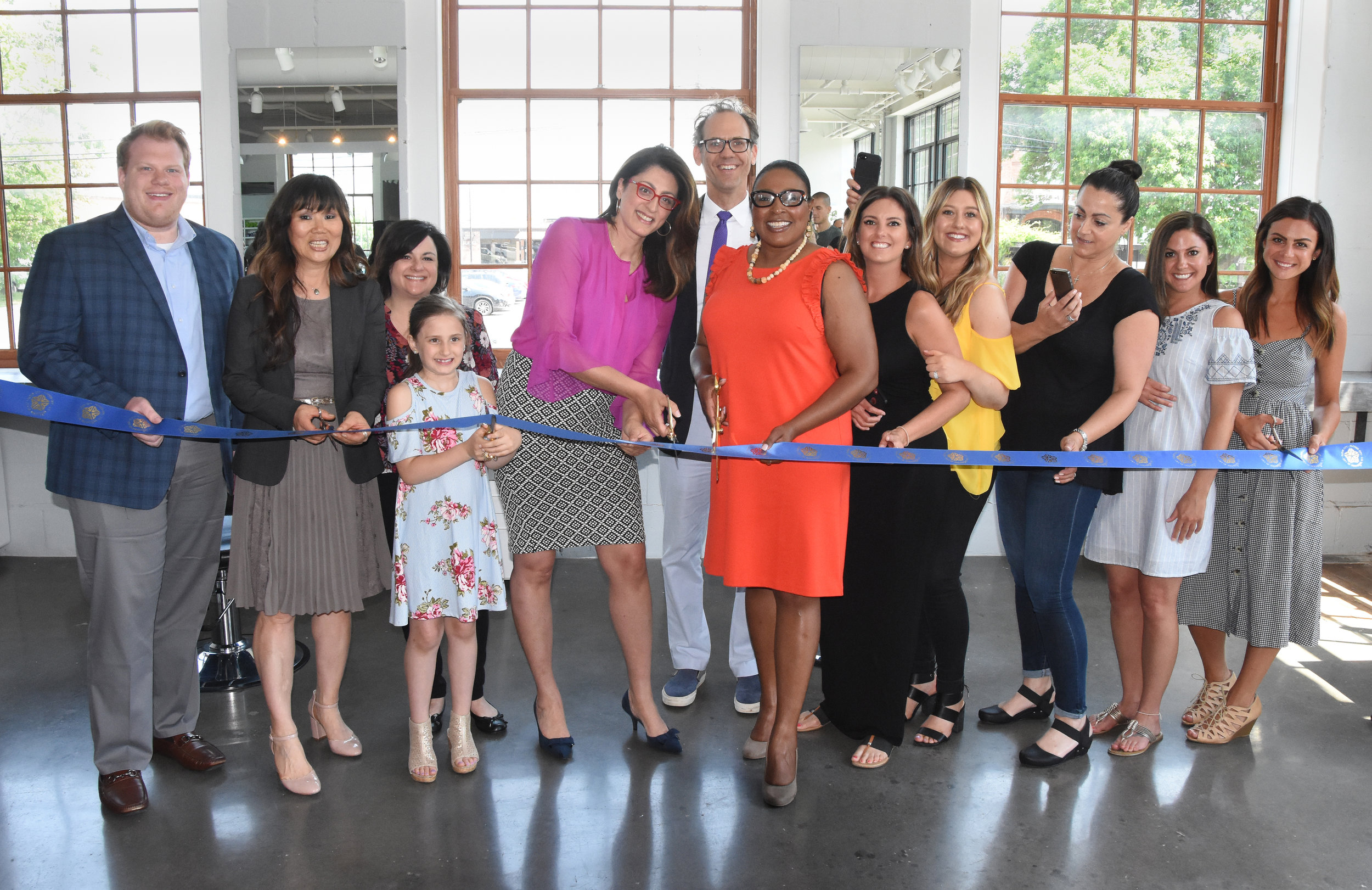 Metro Salon Ribbon Cutting Ceremony.
