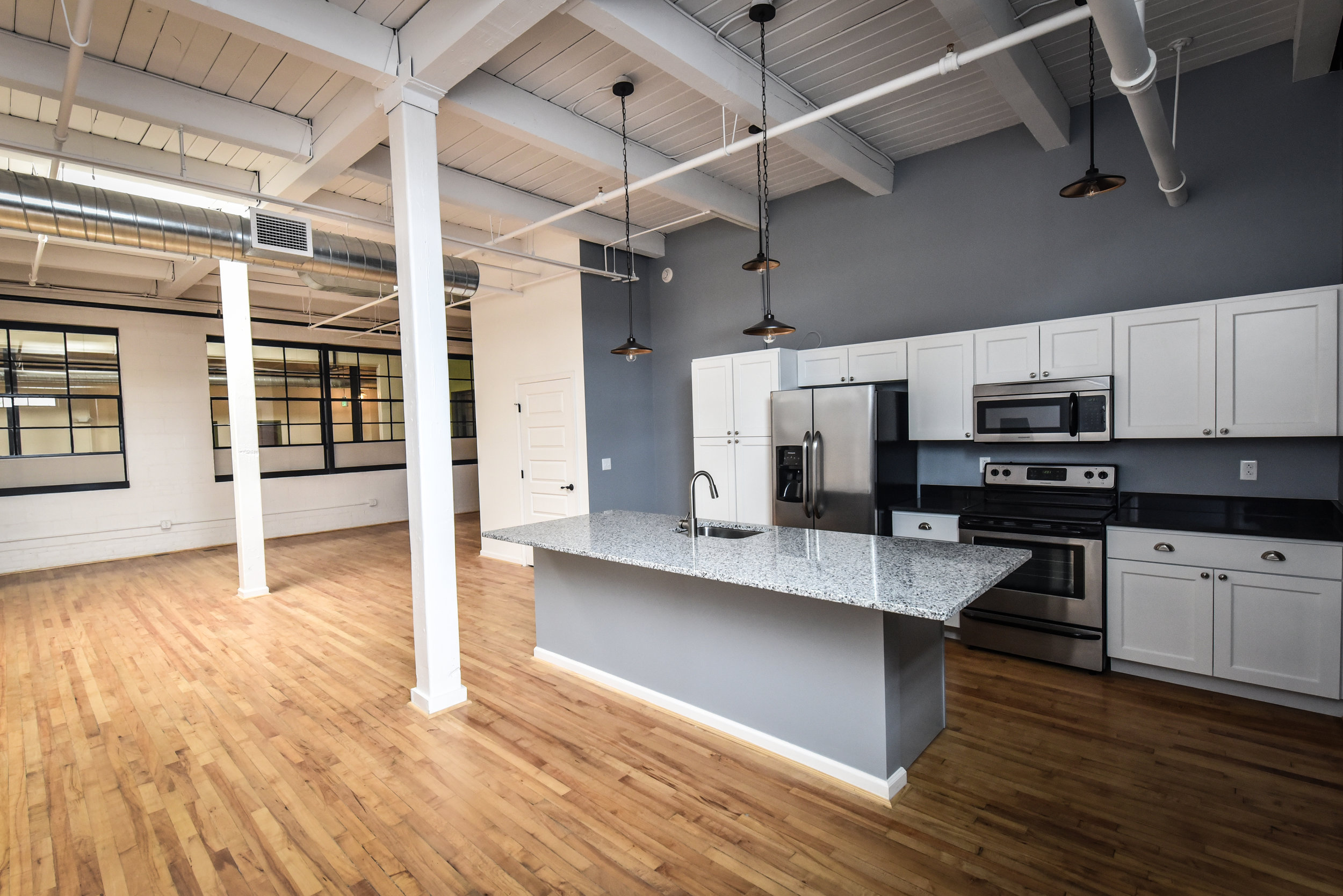 1255 Lofts Residential units modern and spacious design.