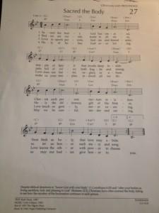 Our closing hymn each week in worship.