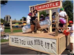 Same float but burrito rider had on underwear. Clothes? So boring!