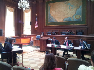 Giving EPA testimony. Picture by Joelle Novey.