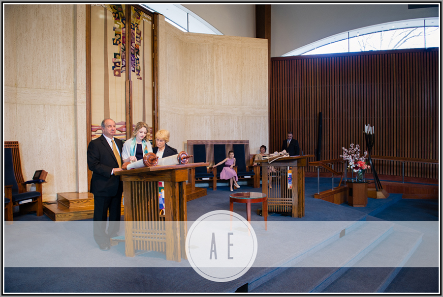 This is NOT Eli's bar mitvah! But this is Temple Rodef Shalom. You can see the home of the Torah behind this family.  This is the scroll that Eli read from that took me to the idea of how to create the experience of being connected to generations prior.