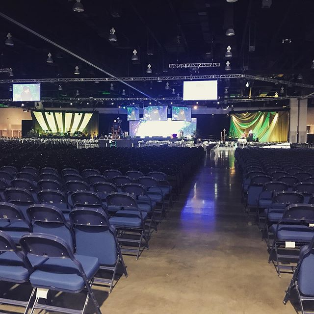Stage is set for 3,000 people. #uccgeneralsynod2019