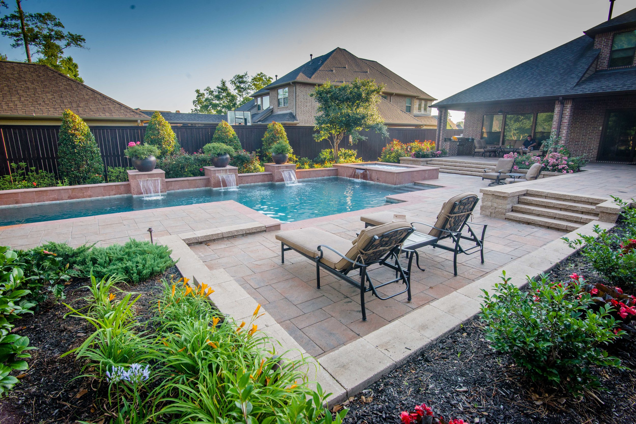 Mirror Lake Designs Landscape And Pool Design In The Greater Houston Area