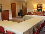 Meeting Spaces - We have many meeting spaces, such as the Lower Sakakawea room (pictured). There are additional meeting spaces in the double cabins, Dining Hall, and soon the Fellowship Center.