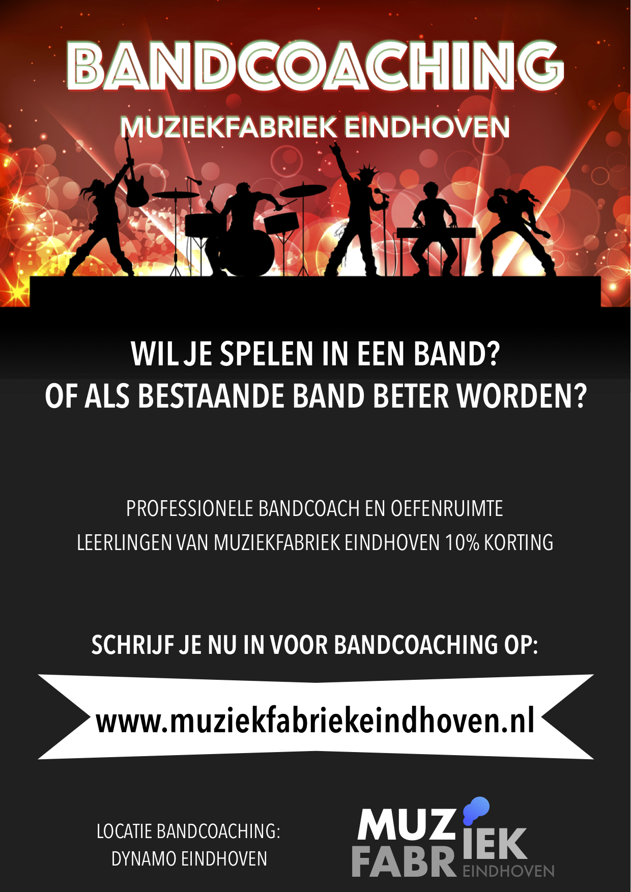 Bandcoaching Muziekfabriek Eindhoven