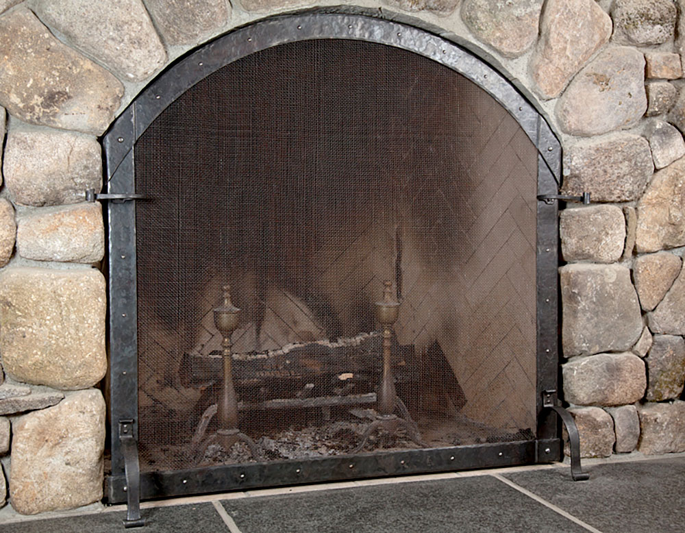 Fireplace screen, a commission by John Westwood, Bradford, N.H.