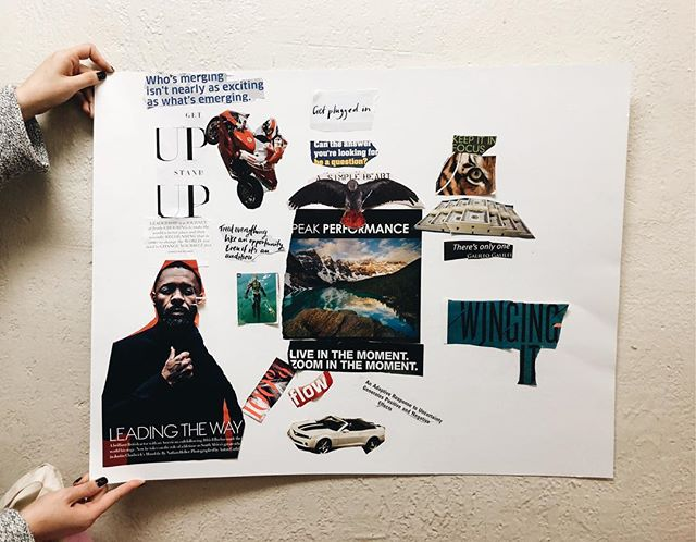 We are working on vision boards for the next few weeks for the guys at the Bread of Life Mission! Here's one that got started on Sunday! #soulsocieties #visionboardparty