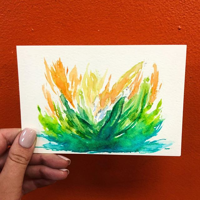 This next month we are teaching watercolor at the Bread of Life!