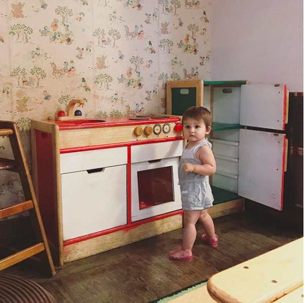 Natalie Gentile's daughter Ramona on our first date! More of this cutie on  King Kidlet's Instagram .