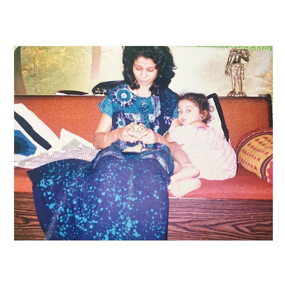 My mother and I in Bombay before we moved to the States.