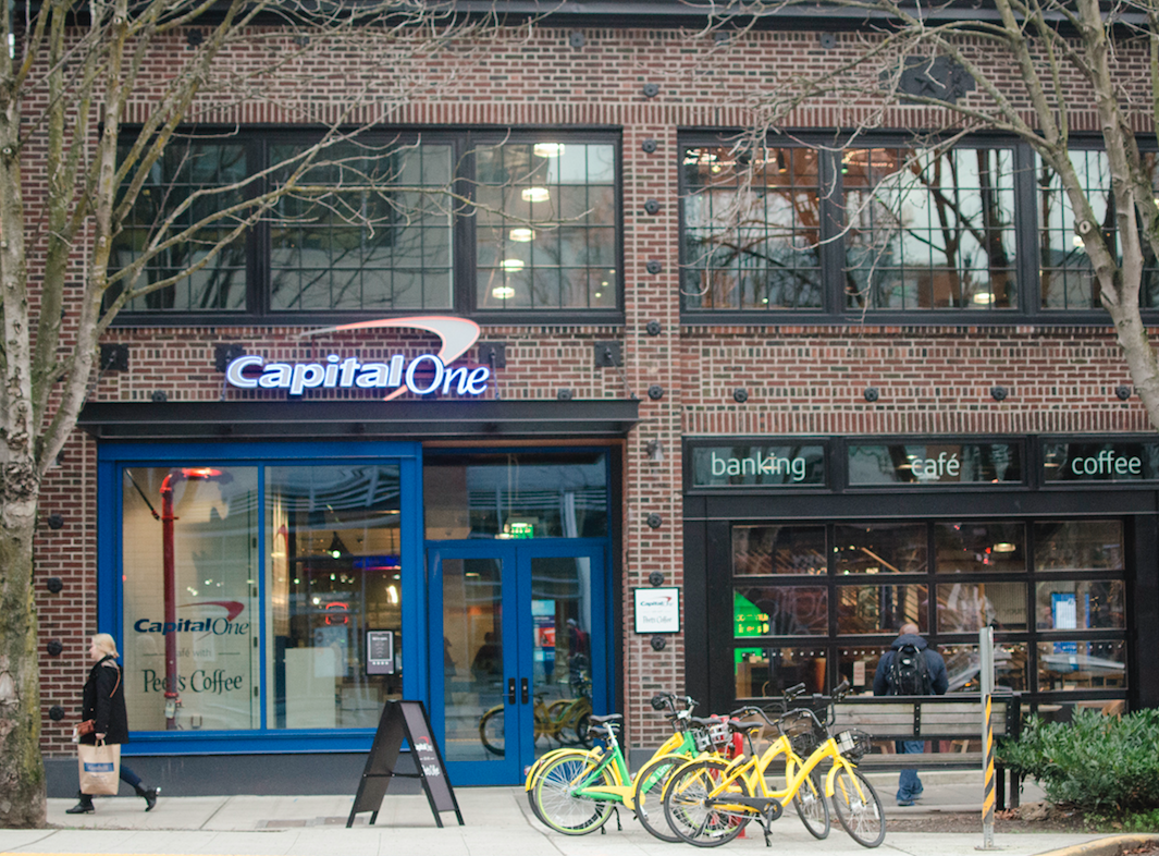 Capital One Café in Seattle's South Lake Union neighborhood, just a few blocks north of Downtown Seattle.