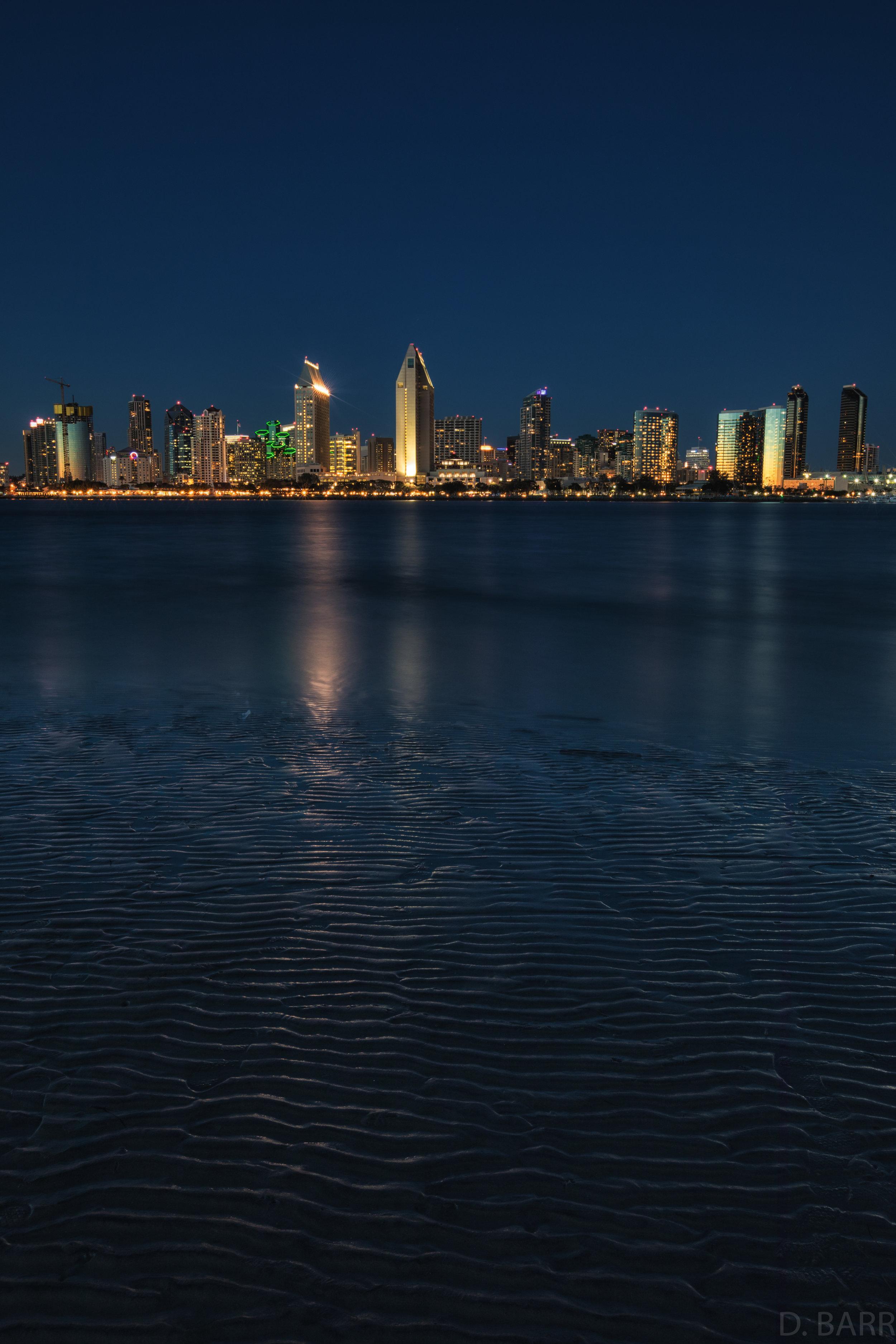 San Diego Skyline (Blue Hour)