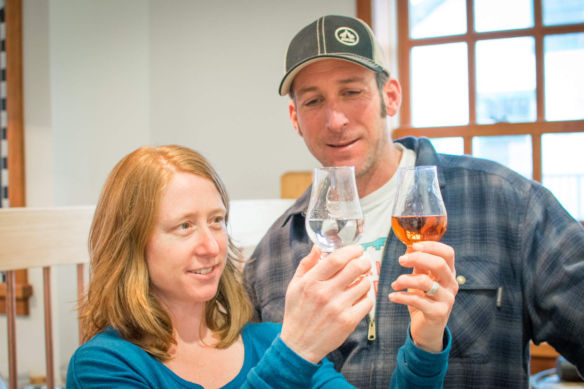 In Haines, wife and husband team Heather Shade and Sean Copeland distill small batch artisanal spirits with a taste of Alaska. Photo by Bethany Goodrich