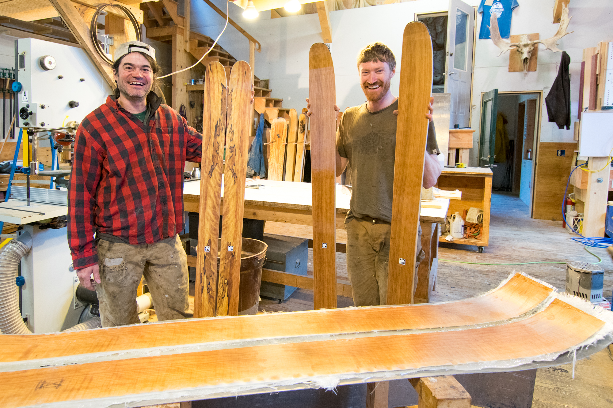 From trees to skis, all locally made in Haines, Alaska. Ready for the best powder and the biggest mountains.
