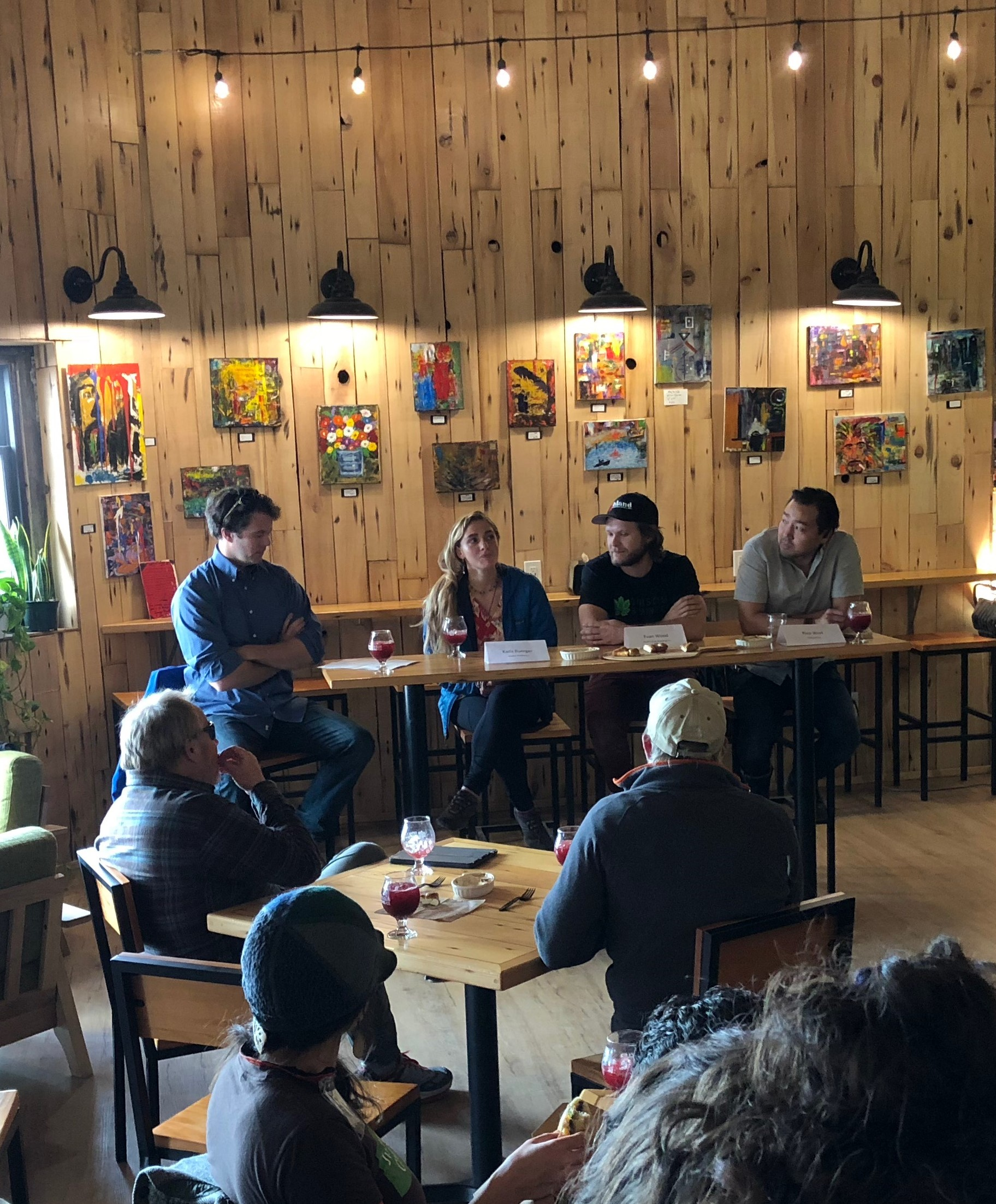 Entrepreneur panel at Devil's Club in Juneau, AK.