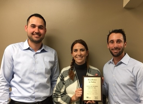 Leo Carlino from ICW Group, Nicole Caya-Winfield from Onyx Building Group, Inc., and Drew Garcia from Rancho Measa Insurance Services, Inc.