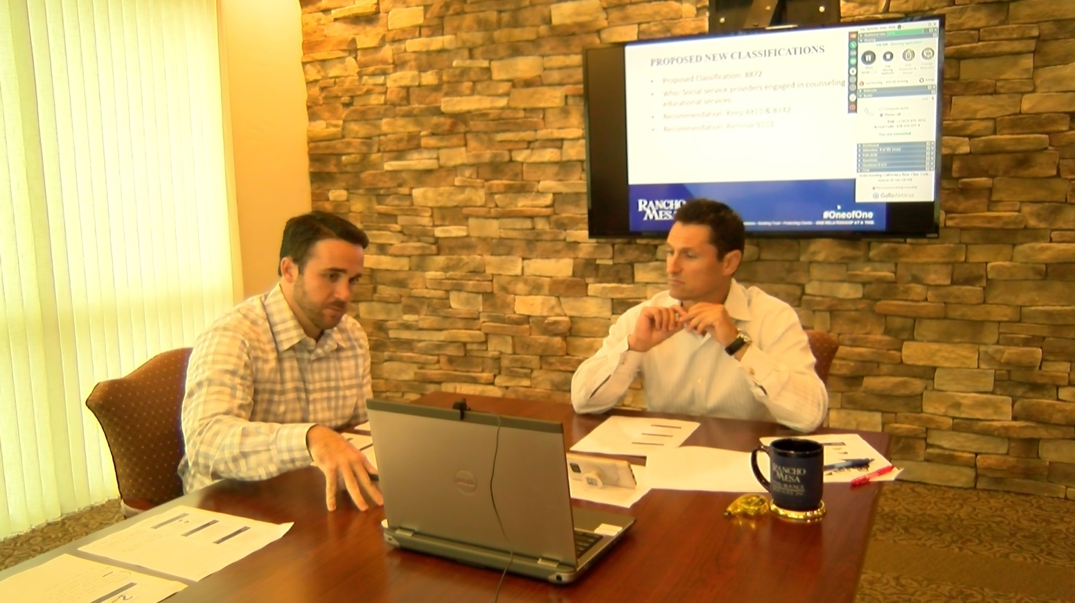 Chase Hixson and Sam Brown during a live webinar