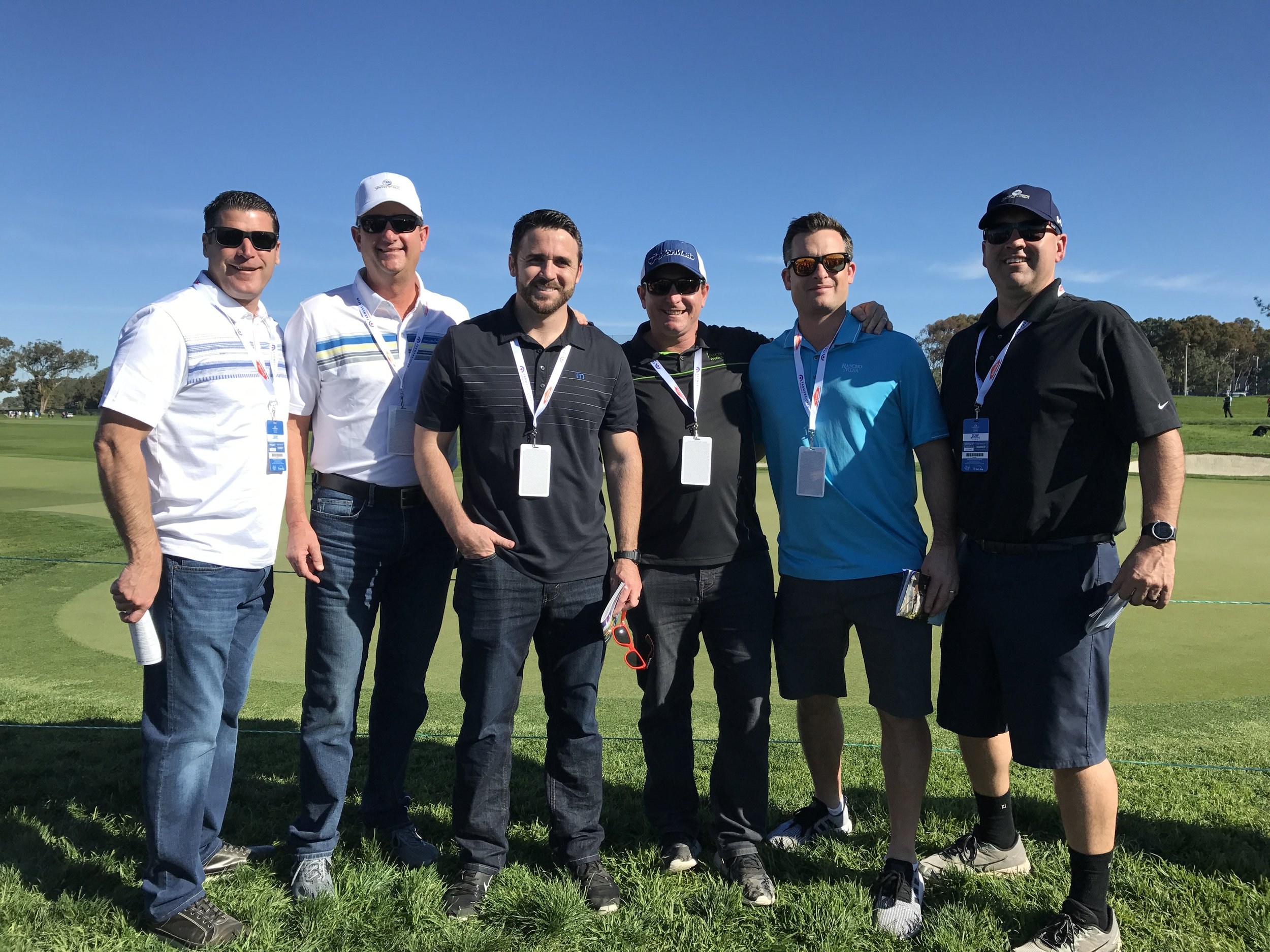 Pictured from left to right: Sam Clayton; John Fischel, West Coast Regional Executive; Chase Hixson; Jeremy Hoolihan; Kevin Howard; and Nic Hernandez, West Coast Underwriting Manager for Sentry.