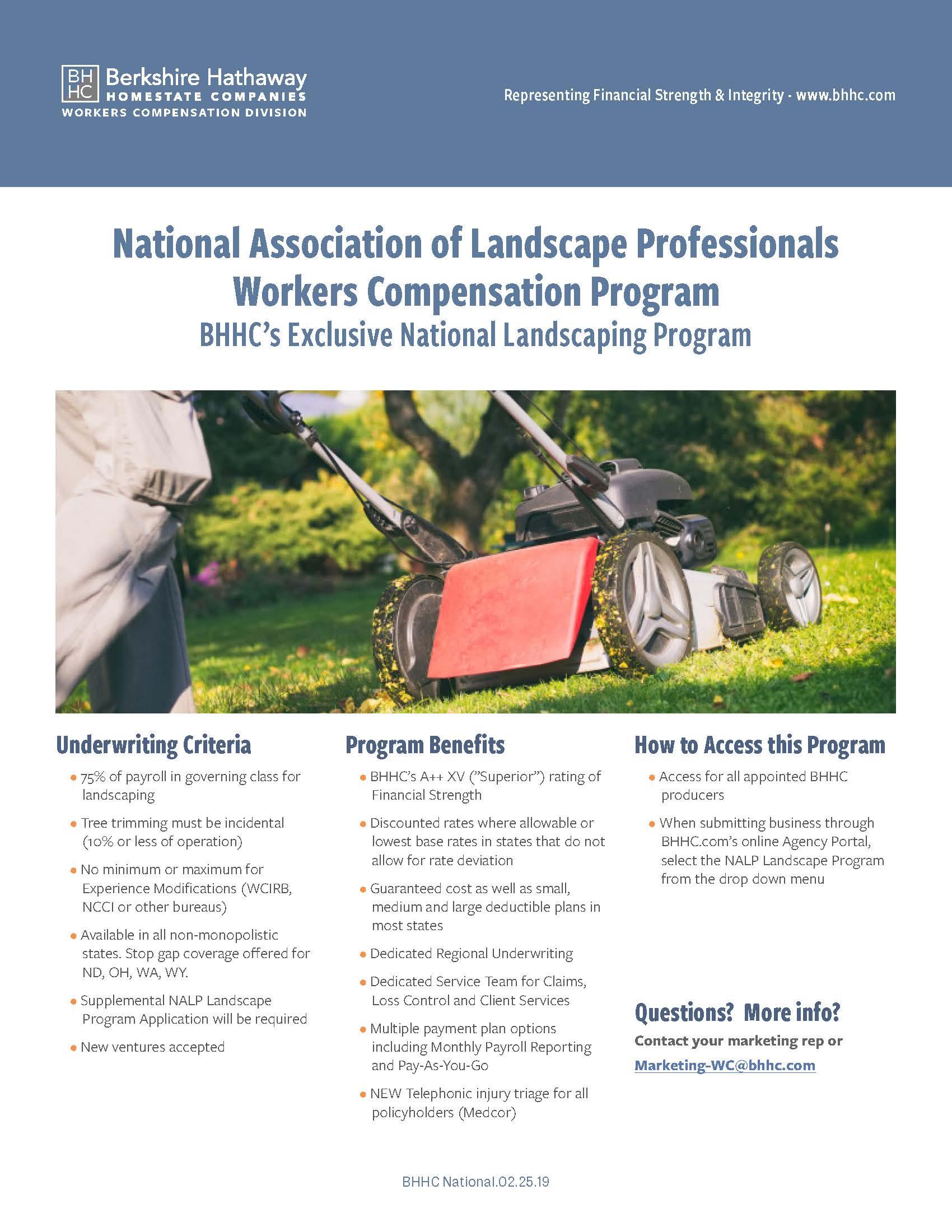 BHHC NALP Program Flyer