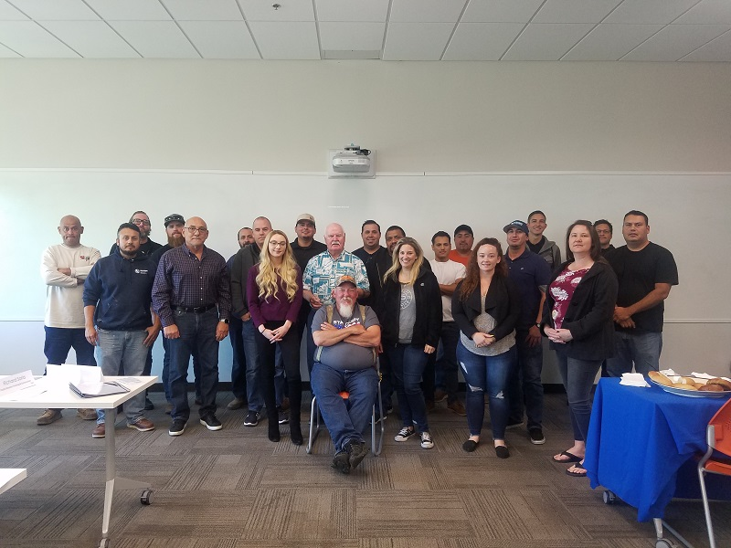 Attendees of the OSHA 10 for Construction workshop.