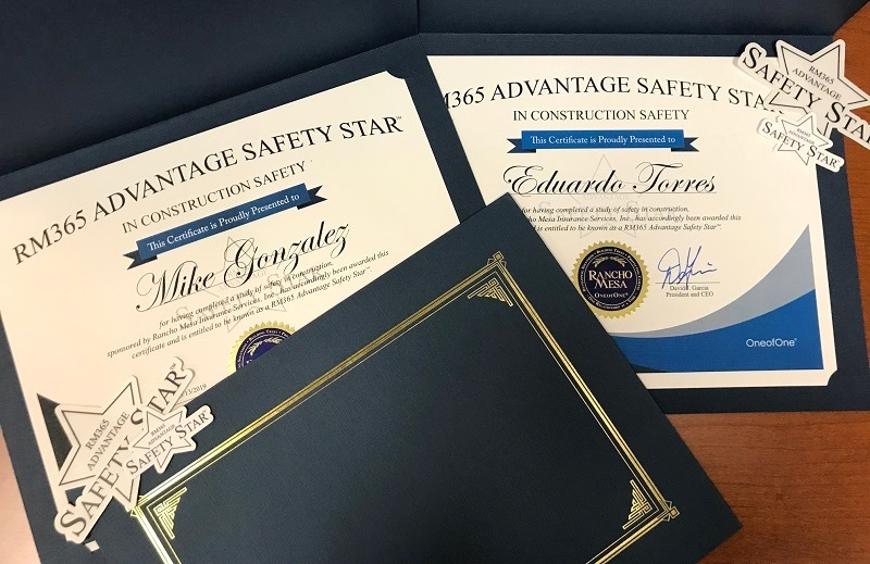 Image of Safety Star Certificates.