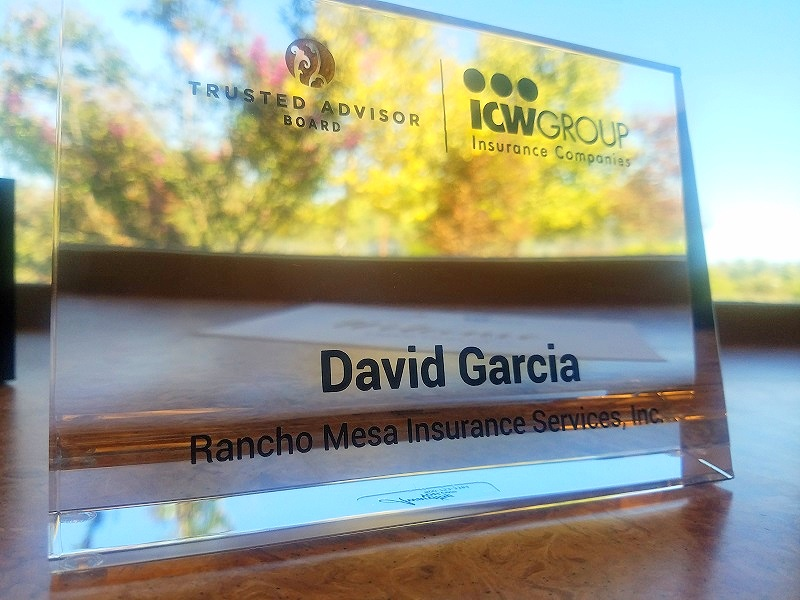 Award plaque.