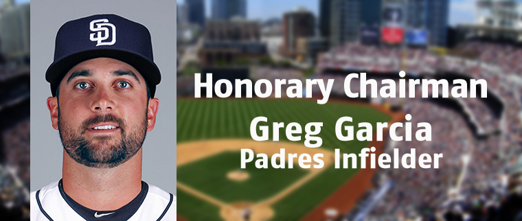 Padres player Greg Garcia, Dave Garcia's son, also recognized by UCP Annual Golf Classic as a Honorary Chairman.