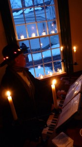Christmas carols in Cooperstown during a Wellnesste Lodge family weekend vacation adventure.