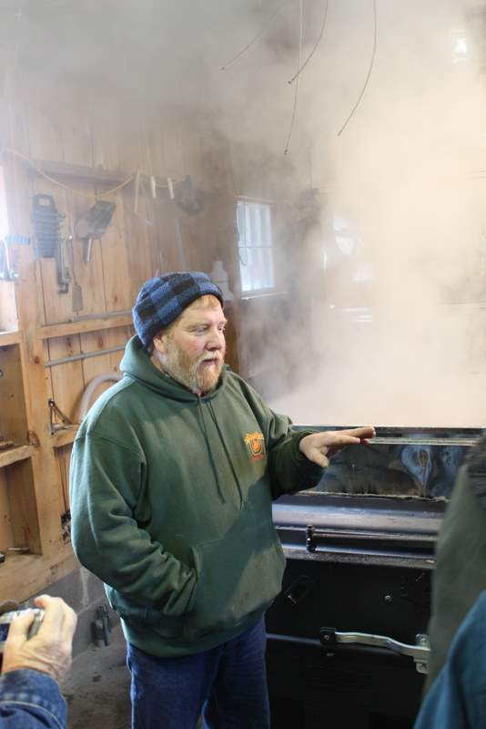 Jon Link talking about how to make real maple syrup in Taberg NY