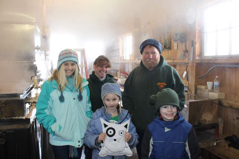 Maple syrup open house at the link farm in taberg ny