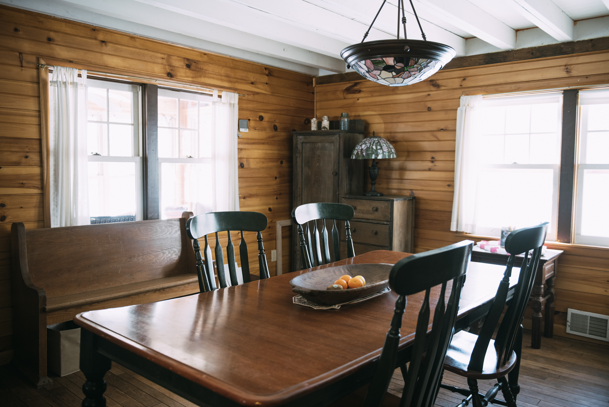 The Black Bear cabin at Wellnesste Lodge in Upstate New York- comfortable, affordable, down-to-earth.