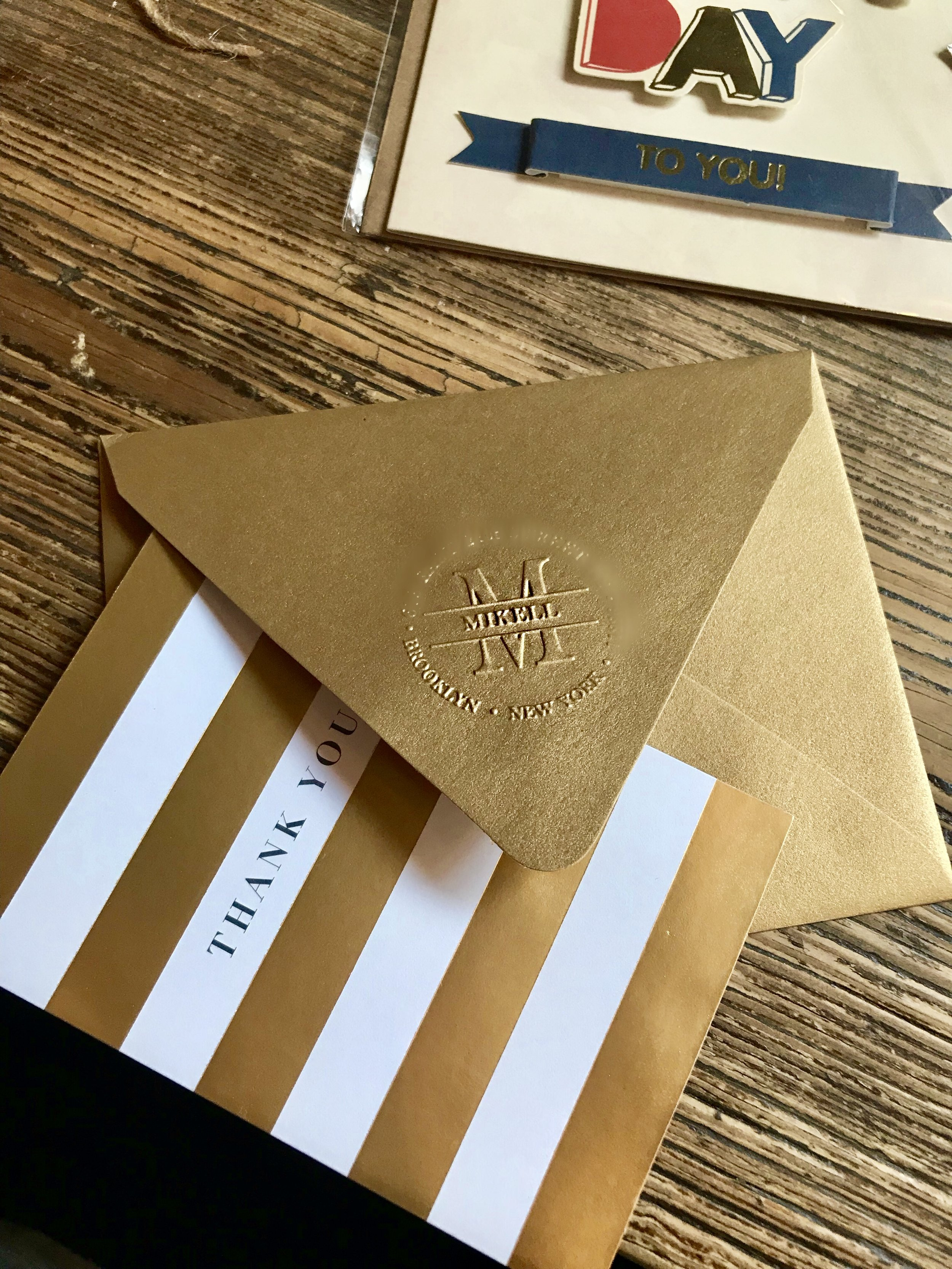 Embossed Thank You Note