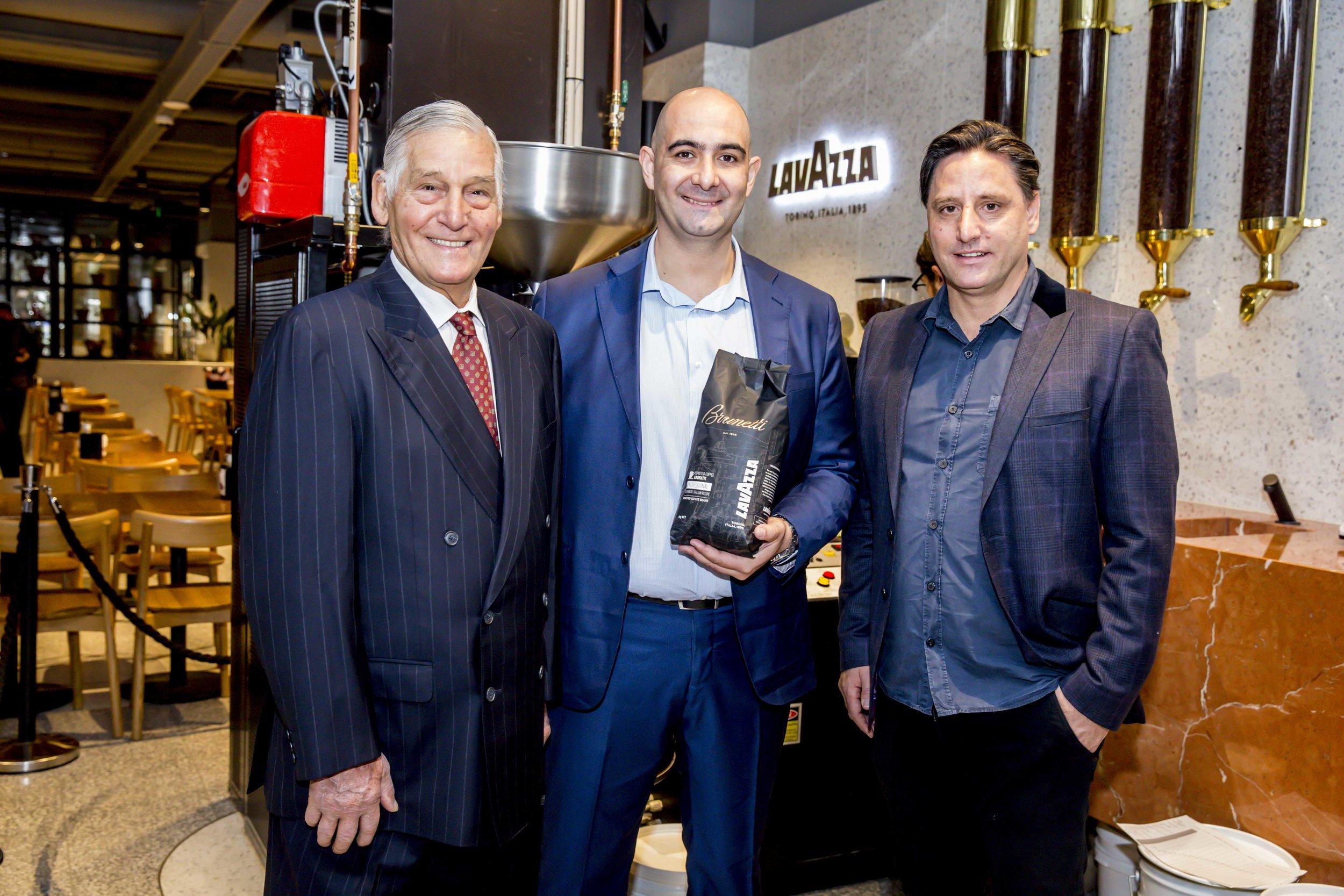Giorgio Angele_Silvio Zaccareo_Yuri Angele at Brunetti X Lavazza International Coffee Day 1.jpg