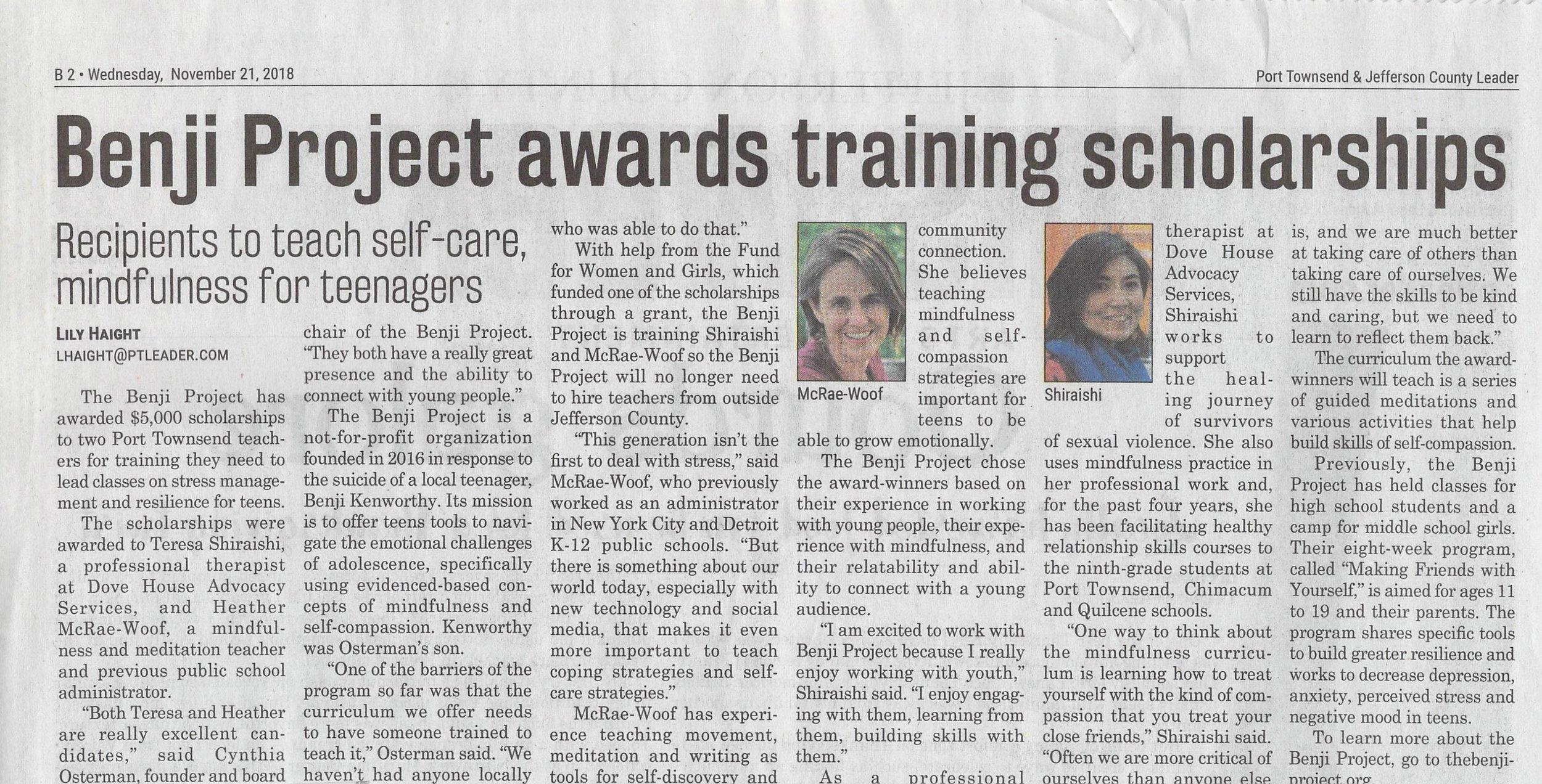 Scholarship Awards - Port Townsend Leader.jpg