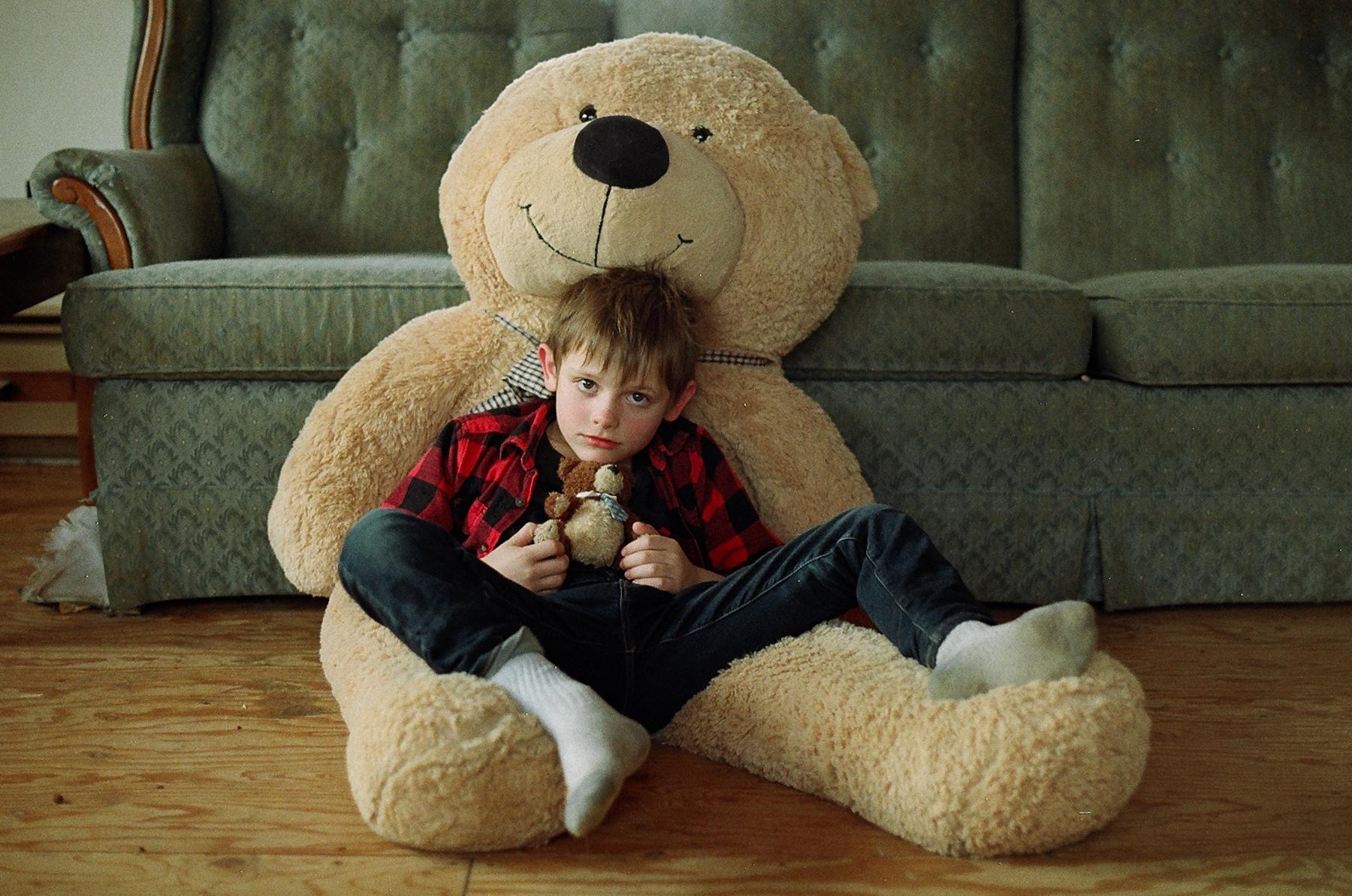 Silas + his big teddy
