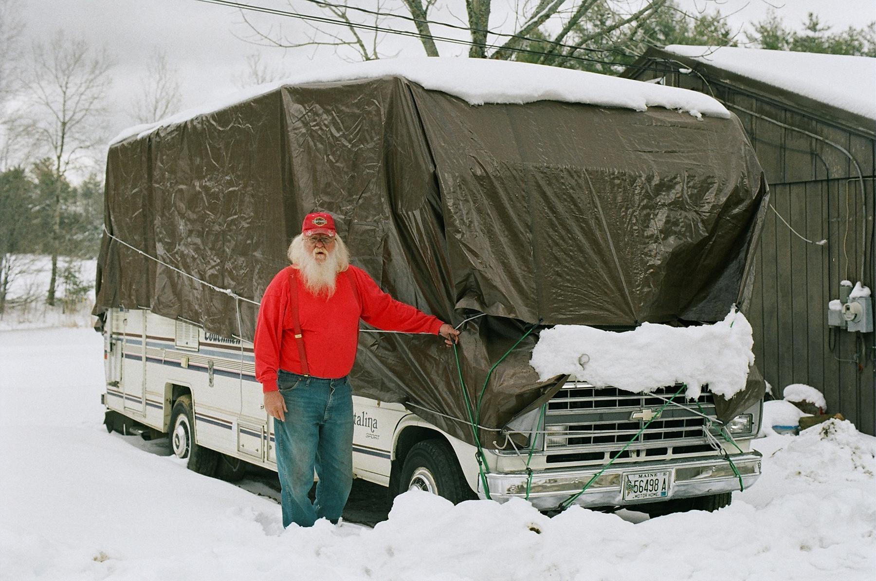John + his camper