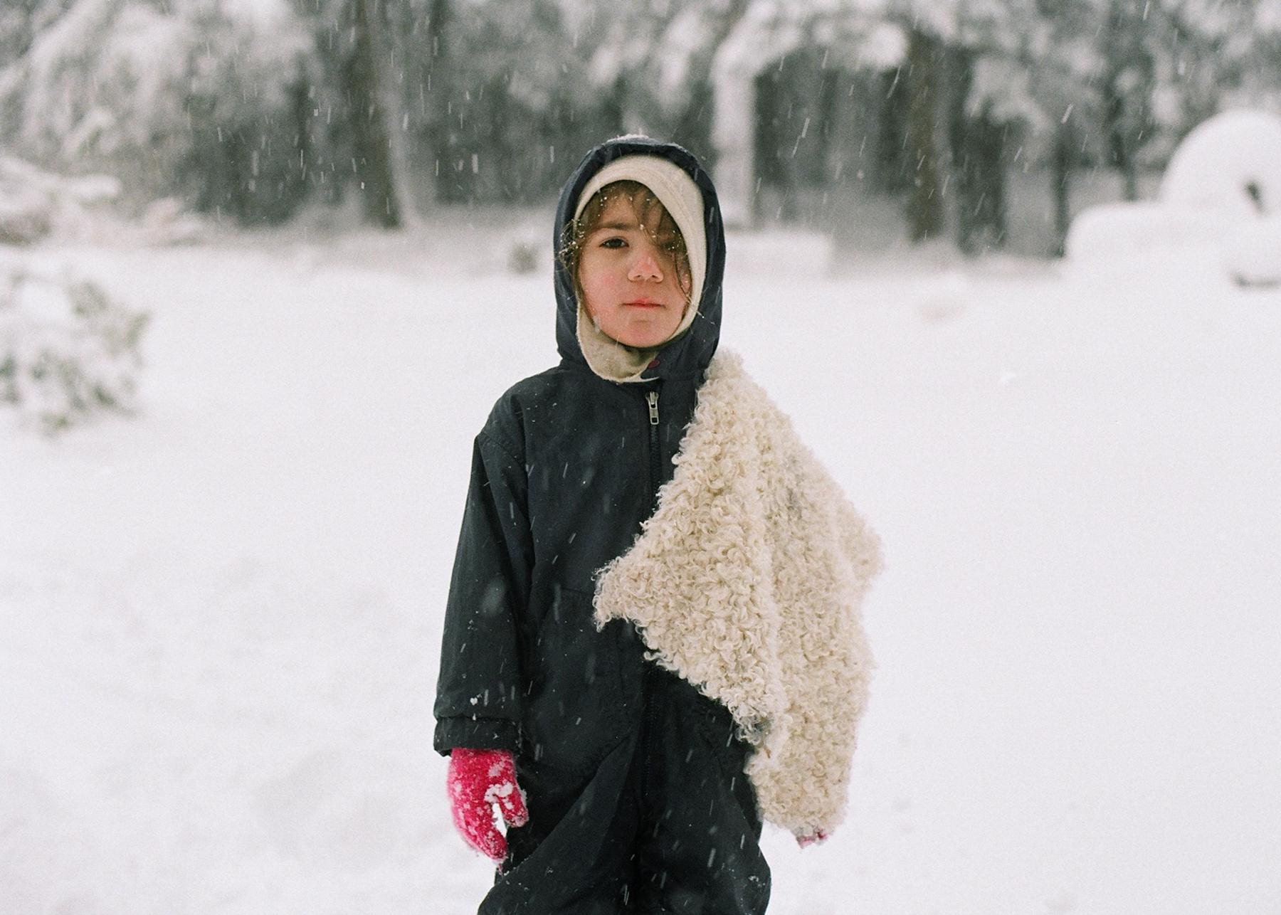 Oscar + his lambskin