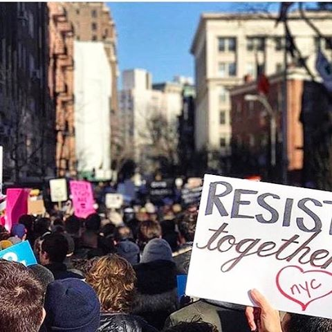 Thousands are protesting in NYC this weekend and standing in #solidarity with the #LGBTQ community. Keep getting in the streets #resistance #protest #protestsundays #brunch #protest #nevertrump #lovewins #lovetrumpshate #notmypresident #strongertogether #resist