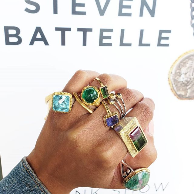 💎 TOMORROW 💎 dare you to pick just one... Steven Battelle & Vicky Bates Trunk Show Friday & Saturday!!