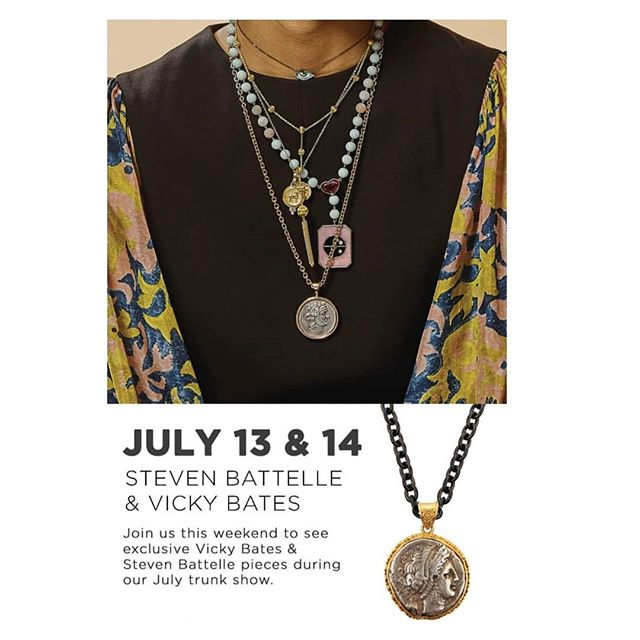It's starting! @stevenbattellejewelry and #vickybatesjewelry trunk show today & tomorrow!! #gemsongems #partytime #yesplease