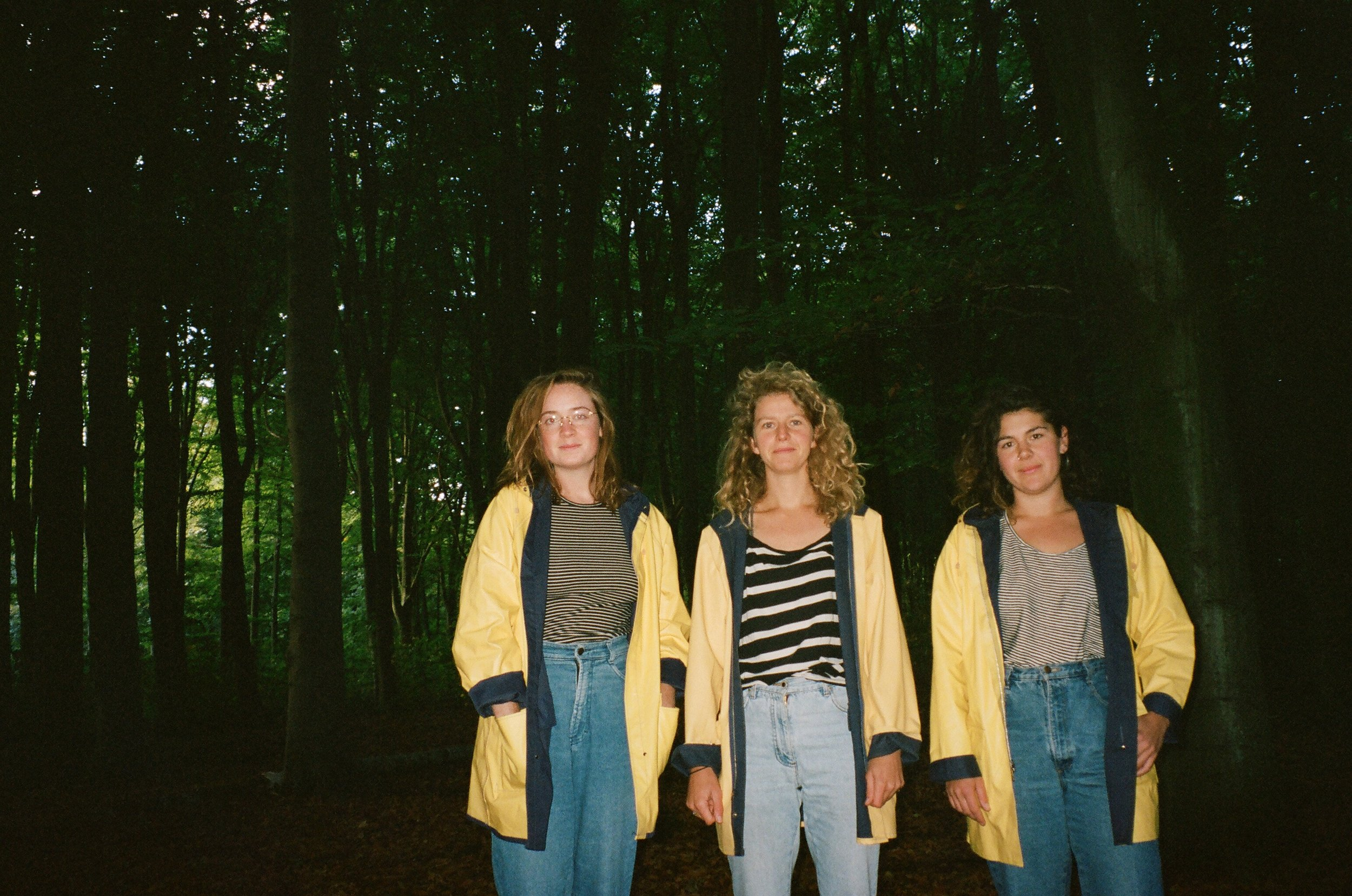 co-founders in yellow: Haley Roeser, Renée Miles, and Eleanor Arkin